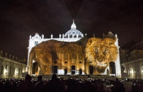 "A moment of ""Fiat lux: Illuminating Our Common Home"", at Saint Peter's Basilica, Vatican City, Rome, 08 December 2015. ANSA/ GIUSEPPE LAMI"